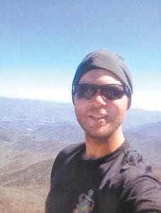 "Letcher County native and war veteran Michael Campbell posed for this ""selfie"" recently along the Appalachian Trail, where he is walking to help himself readjust after three tours in Afghanistan."