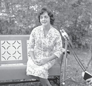 """Barbara Powers, wife of U-2 pilot Francis Gary Powers who was shot down on May 1, 1960, over Russia, met with newsmen in Milledgeville, Georgia, on April 12, 1961 to voice her displeasure that her husband hadn't been released, as reports had said he would be. She issued her statement after President Kennedy's news conference at which he said he had no information regarding the release of Powers """"I have been disappointed before when other rumors proved incorrect,"""" she said. Powers was eventually released by the Soviets and returned to the U.S. in March 1962, at which time he was debriefed by the CIA before being ordered to appear at a hearing before the U.S. Senate."""