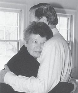 Pat Gish shared a hug with her husband Tom at their home in Thornton in the 1980s.