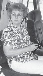 """Anna Watkins of Woodville, Fla., is pictured a few years back when she and her son brought their camper to Carr Creek Lake. Whitesburg correspondent Oma Hatton says, """"My mom and dad, the late Cindy and Bill Howard, and Kathleen Brock and I visited with her."""""""