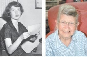 Mountain Eagle publisher Pat Gish died April 13 at age 87. The photo at left was taken in the late 1940's while she was beginning her career as a reporter at The Lexington Leader. The photo at right was taken recently.