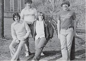 The 1980 senior class officers are President Billy Caudill, Vice-President Ralph Hall, Secretary Nancy Brown, and Treasurer Kenny Miles.