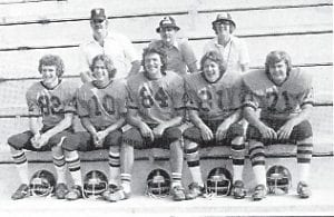 The 1980 senior football players are Vincent Wurschmidt, Mitch Whitaker, Marshall Ison, Jerome Wilson and David Maggard.