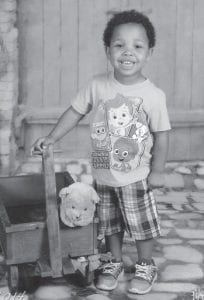 Elijah Grant Gordon is the son of Juddy and Mica Watts Gordon of Shelbyville. His grandparents are Mike and Donna Watts of Millstone. He is three years old.