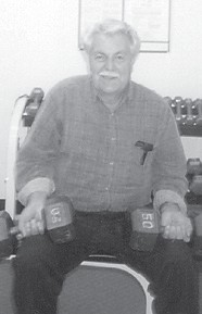 Hargis Ison of Isom, a grandfather of Julie Hatton, was photographed at the Wellness Center a few years ago.