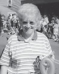 The late Jeanette Fields, wife of the late Clayton Fields, is pictured at a Mountain Heritage Parade in Whitesburg.