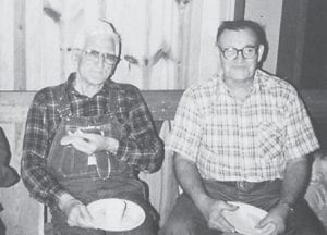 The late Bill Howard and Willard Maggard are pictured at Cowan Community Center in 1984.