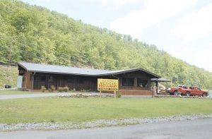 """The photo above shows the outside of Las Peñas Mexican Restaurant, which is still under construction on city-owned propery in Jenkins. The restaurant will """"be a showpiece for Letcher County"""" when it is completed, says owner and manager Charles Colwell."""
