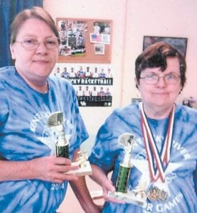Iona Noble and Sharon Amburgey finished in second place in the Rook tournament at the Senior Games.