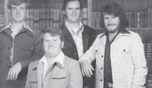 The Hatton brothers, Robert, Astor, Billy and Larry, are pictured on Mother's Day in 1975. Their mother, Whitesburg correspondent Oma Hatton, calls them her pride and joy.