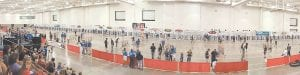 A panoramic view of the National Archery in the School Program (NASP) world competition in Madison, Wisconsin. Letcher County Central finished eighth in the event.