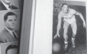 "This photo shows Wallace Clayton ""Wah-Wah"" Jones as he appeared in photos in The Kentuckian, the University of Kentucky yearbook. Late Mountain Eagle editor and publisher Tom Gish was the editor of The Kentuckian in 1947 and wrote of Jones, then a six-foot, four-inch sophomore forward and center: ""The Harlan Hurricane was the fifth highest scorer on the cage team with 217 points in 33 games. He was the 'man of the hour' in both post-season tournaments, scoring 50 markers in the SEC tourney and was again UK's individual high scorer in the N.I.T. in New York with 36 tallies. Wallace Jones, like [sophomore teammate Ralph] Beard, has made the All-SEC quintet in his first and second years with the Ruppmen. Wah-Wah has scored 507 markers in his two seasons. He made All-American at forward this spring."""