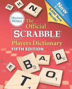 The Official Scrabble Players Dictionary, out Aug. 11 from Merriam-Webster, has 5,000 new words. (AP Photo)