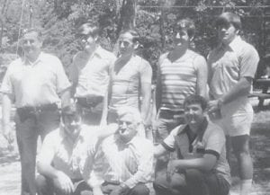 The late Bill Howard is pictured with his seven sons, Hubert, John, Jack, Hillard, Charles, Bobby Ray and Eddie. Eddie Howard died in 2000.