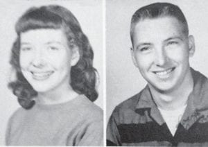 Rosemary and John Shook in their high school photographs.