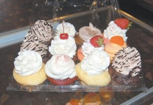 An assortment of cupcakes was on display earlier this week.