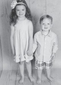 Elise and Daniel Hill of Lexington, are the children of Matt and Rocki Hatton Hill. They are the grandchildren of Rob Hatton and the late Joan Trent Hatton, and greatgrandchildren of Oma Hatton.