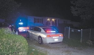 Letcher County Sheriff 's Lietenant Deputy Brian Damron was among the first police officers to arrive at the scene of Sunday night's shooting in the Cram Creek community of Mayking. (Eagle photo)