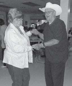 BIRTHDAY DANCE — Carl Parrott celebrated his 92nd birthday with a dance at the Fleming-Neon Senior Citizens Center.