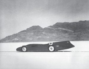 British automobile racer Sir Malcolm Campbell sped across the salt bed in his Bluebird and set a world record of 301.337 miles per hour on the Bonneville Salt Flats in Utah on September 3, 1935. (AP Photo)
