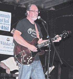 Guitarist Patrick Little played rock and roll to a very appreciative Isom Days crowd.