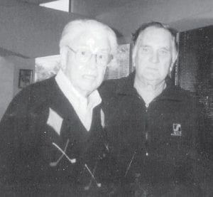 Contributing writer Everett Vanover is pictured with C.M. Syar,ownerofSyarIndustriesinNapa,Calif.,oneofthe largest construction companies in northern California. After retiring from the Air Force, Vanover worked for Syar Industries.