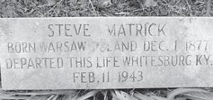 This is the gravesite marker of Steve Matrick, located at the Sandlick Cemetery in Whitesburg.