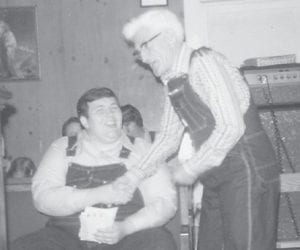 """At left, Bro. David Miller of Dayton, Ohio, will speak at Whitco Pentecostal Church on Oct. 8-11. He is pictured with the late Bill Howard, the father of Whitesburg correspondent Oma Hatton. She says, """"Come to (the church). You will enjoy hearing him."""""""