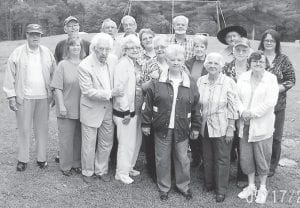 Seniors from the Ermine Center joined participants from the other five senior citizens center in Letcher County for an outing at Fishpond Lake on Sept. 18.