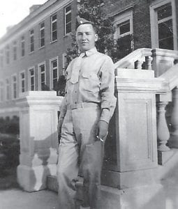 The late Kloss Whitaker of Letcher County is seen in this photo taken during the time of the second World War.