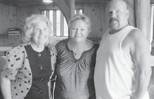 Oma Hatton, Vickie Hatton Underwood and her brother, Ivan Hatton, attended the Hatton reunion this year.