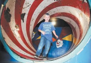 Jeremiah Hurt made it out of the funhouse by getting through the spinning room.