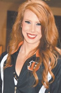 Sarah Gilliam, cheerleader captain and choreographer for the Ben-Gals squad with the NFL's Cincinnati Bengals.