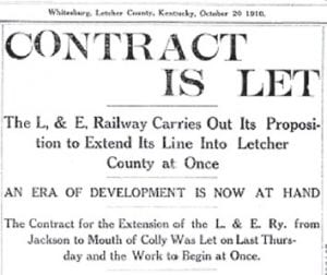This headline appeared in the Wednesday, October 20, 1910 edition of The Mountain Eagle.