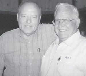 """Larry Van Hatton of Indiana, and Ealice """"Elzie"""" Ray Hatton attended the Hatton family reunion held at the Cowan Community Center."""