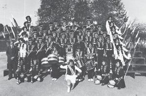 Pictured is the Whitesburg High School Band of 1979-1980. The Band Boosters raised $12,000 to enable the band to purchase new uniforms.