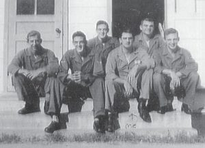 Everett Vanover (third from right) is pictured with some of his printers taking a break at Lackland Field, Texas, is 1948. Vanover was 19 years old and had four years of service in the military.
