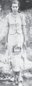 """Rachel St. John is pictured with Della """" Baby Dell"""" Howard Pennington, who was born January 10, 1939 and died in 1985 at the age of 46. She was the wife of Bob Pennington and a daughter of the late Cindy and Bill Howard."""