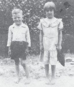 Bonnie Ingram and her brother, Jack Dempsey Cornett, children of Victor and Mary Lea Campbell Cornett, attended the baptism of Calvin Foutch in the Doubles of Pine Mountain.