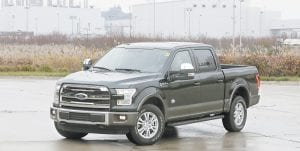 The Ford F-150 truck at the Dearborn Truck Plant in Dearborn, Mich. It's Ford Motor Co.'s biggest bet in decades: an aluminum-sided F-150 that could set a new industry standard — or cost the company its pickup truck crown. (AP Photo/Carlos Osorio)