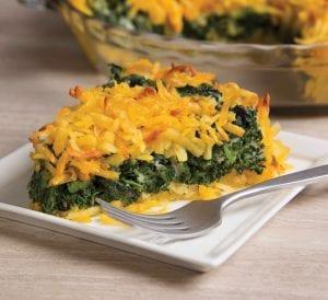 Double Cheese Spinach-Potato Pie