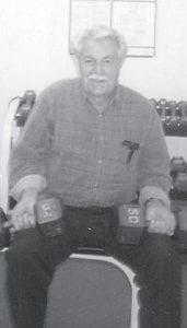 Pictured at the Wellness Center a few years ago is the late Hagel Ison of Isom, grandfather of Julie Hatton.