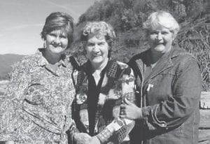 Dorthy Tacket, her daughter Charlene Mason and Jeanette Yonts are pictured in North Carolina where they had gone to see the Primitive Quartet at Harmony Valley.
