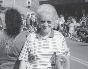 Watching a Mountain Heritage Parade in Whitesburg was the late Jeanette Fields, wife of the late Clayton Fields.
