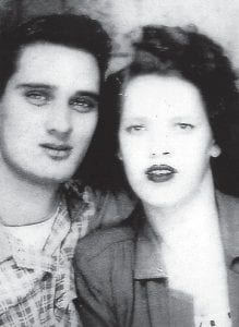 ELVIS LOOKALIKE — Everett Vanover and Estelle Mullins are pictured shortly before they were married in Jenkins. He was 17 years old.