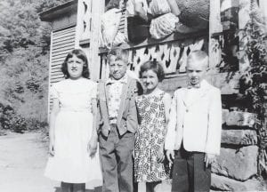 The entire 1955-56 third grade class on the last day of school at Sycamore School. Pictured from left are Gladys Pennington, Jimmy Harold Back, Linda Bryant, and Tony Blair.