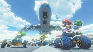 """This photo from Nintendo shows a scene from the video game, """"Mario Kart 8."""" (AP)"""