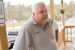 Morgan County Jailer James Easterling is paid $30,000 a year even though Morgan County has no jail. Easterling has four full-time deputies, including his son Carter. The deputies' salaries total about $80,000 a year. (Photo by Jacob Ryan/Ky. Center for Investigative Reporting)