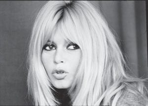 """STARRING AT THE ALENE — French actress Brigitte Bardot starred in the movie """"La Parisienne,"""" which showed at the Alene Theatre in Whitesburg in January 1965, eight years after it was released."""