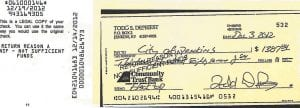 The Mountain Eagle obtained this photocopy of a returned check through Kentucky's Open Records Law.